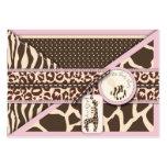 Safari Girl Reminder Notecard Large Business Cards (Pack Of 100)