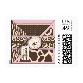 Safari Girl Stamp B