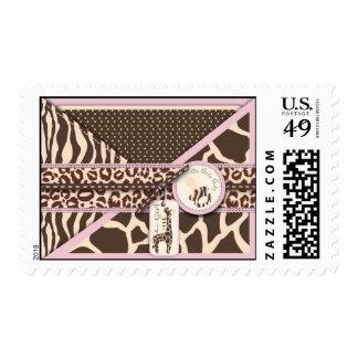 Safari Girl Stamp