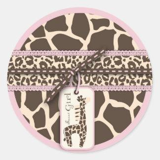 Safari Girl Sticker