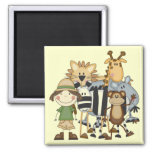 Safari Girl T-shirts and Gifts 2 Inch Square Magnet