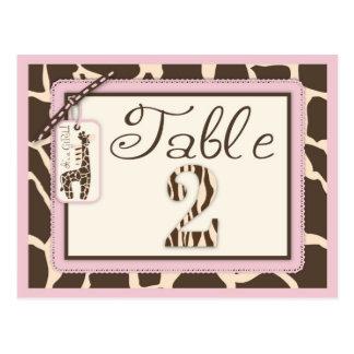 Safari Girl Table Postcard 2