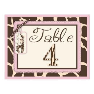 Safari Girl Table Postcard 4