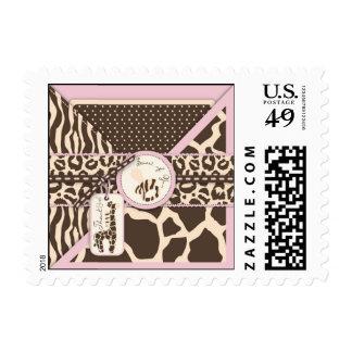 Safari Girl TY Stamp B