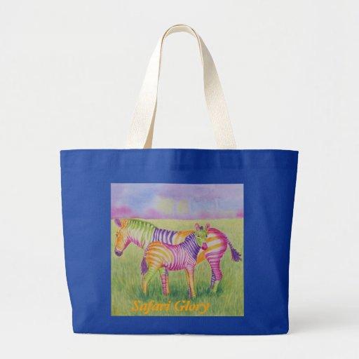 Safari Glory Jumbo Tote Canvas Bags