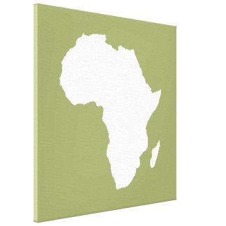 Safari Green Audacious Africa Gallery Wrap Canvas