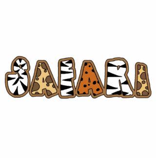 Safari in Animal Print Letters Sculpture
