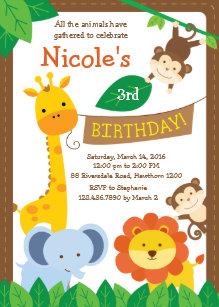 Zoo birthday invitations zazzle safari invitation jungle invitation zoo invite stopboris Image collections
