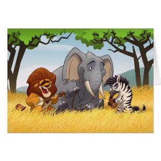 Safari Jug Band Card (Blank Inside)