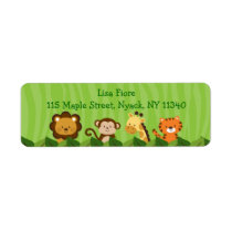 Safari Jungle Animal Address Labels