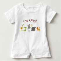 Safari Jungle Animal Birthday Outfit Romper