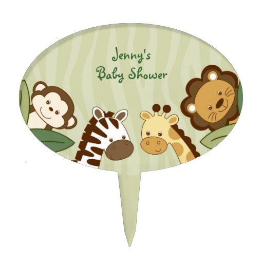 Jungle Animal Cake Toppers D