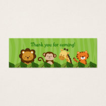 Safari Jungle Animal Goodie Bag Tags Gift Tags