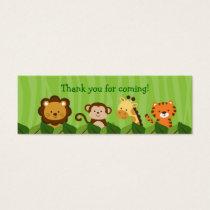 Safari Jungle Animal Goodie Bag Tags Gift Tags