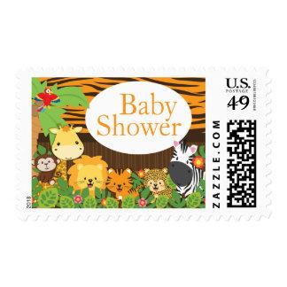 Safari Jungle Animal Neutral Baby Shower Postage