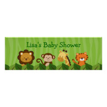 Safari Jungle Animal Personalized Banner Sign