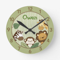 Safari Jungle Animal Personalized Wall Clock