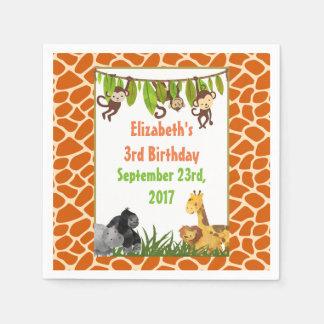 Safari Jungle Animal Theme Birthday Party Napkin