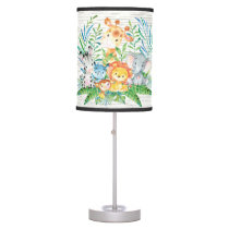 Safari Jungle Animals Baby Girl | Boy Nursery Lamp