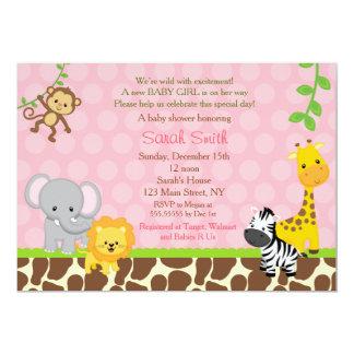 safari_jungle_animals_baby_shower_invitations_girl r24316f29a14c4a00ba4e772334267382_zkrqs_324?rlvnet=1 safari baby shower invitations, 1000 safari baby shower,Girl Jungle Baby Shower Invitations