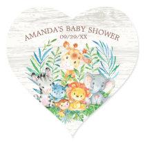 Safari Jungle Animals Baby Shower Sticker