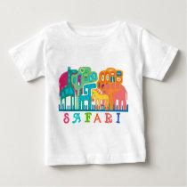 Safari - jungle animals baby T-Shirt