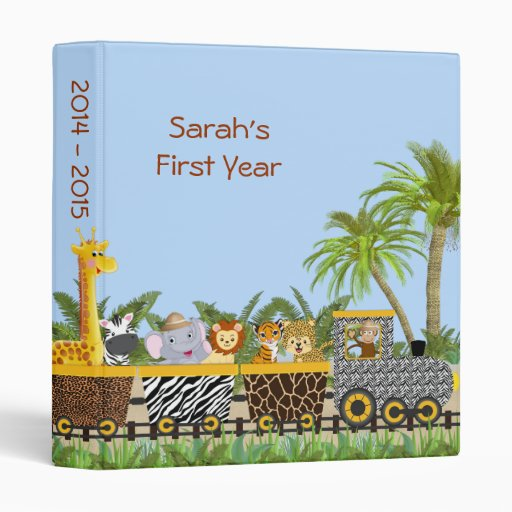 Safari Jungle Animals in Train Photo Album Binders