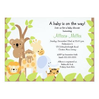 Safari Jungle Baby Animails Baby Shower Invitation