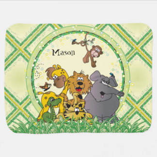 Safari Jungle Baby Animals Baby Blanket