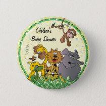 Safari Jungle Baby Animals   Baby Shower Button