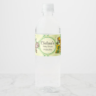 Safari Jungle Baby Animals - Baby Shower Water Bottle Label