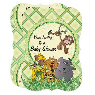 Safari Jungle Baby Animals Card