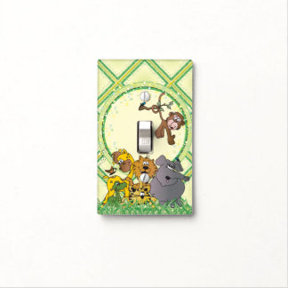Safari Jungle Baby Animals Light Switch Cover