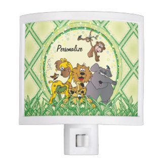 Safari Jungle Baby Animals Night Light