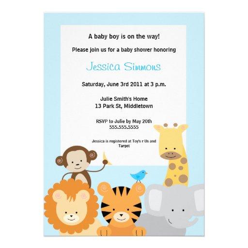 Safari Jungle Baby Shower - Boy Custom Invitations