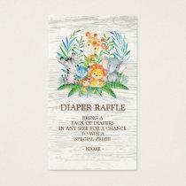 Safari Jungle Baby Shower Diaper Raffle Ticket