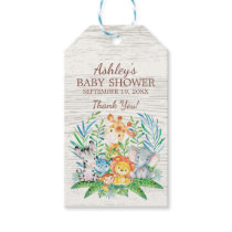 Safari Jungle Baby Shower Favor Gift Tag
