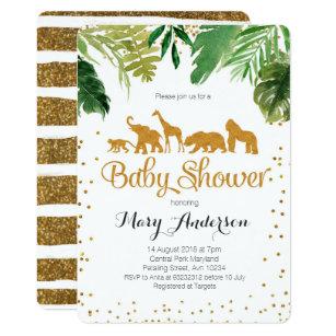 Safari baby shower invitations zazzle safari jungle baby shower invitation filmwisefo