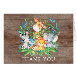 Safari Jungle Baby Shower Thank You Note