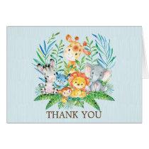 Safari Jungle Baby Shower Thank You Note Card