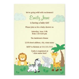 Safari Jungle Gender Neutral Baby Shower Invite