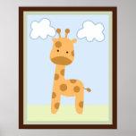 Safari Jungle Giraffe Wall Art Poster/Print
