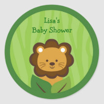 Safari Jungle Lion Stickers Labels