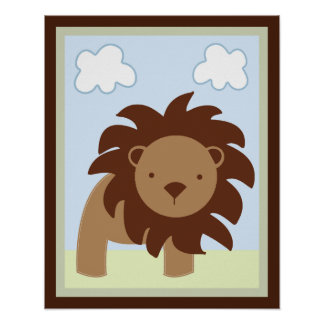 Safari Jungle Lion Wall Art Poster/Print