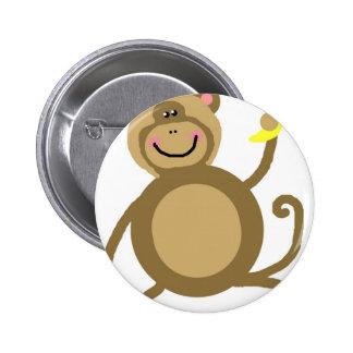 Safari Jungle Monkey Cute Adorable Chic Destiny Pinback Button