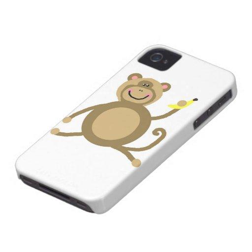 Safari Jungle Monkey Cute Adorable Chic Destiny Case-Mate iPhone 4 Case