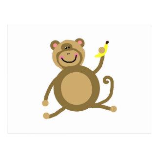 Safari Jungle Monkey Cute Adorable Chic Destiny Postcard