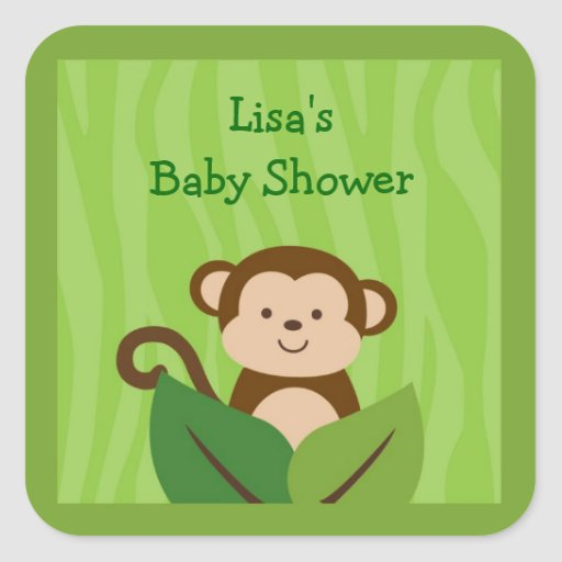 Safari Jungle Monkey Stickers Labels