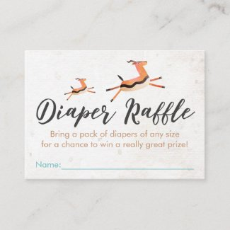 Safari & Jungle Theme Diaper Raffle Enclosure Card