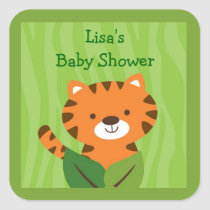 Safari Jungle Tiger Stickers Labels
